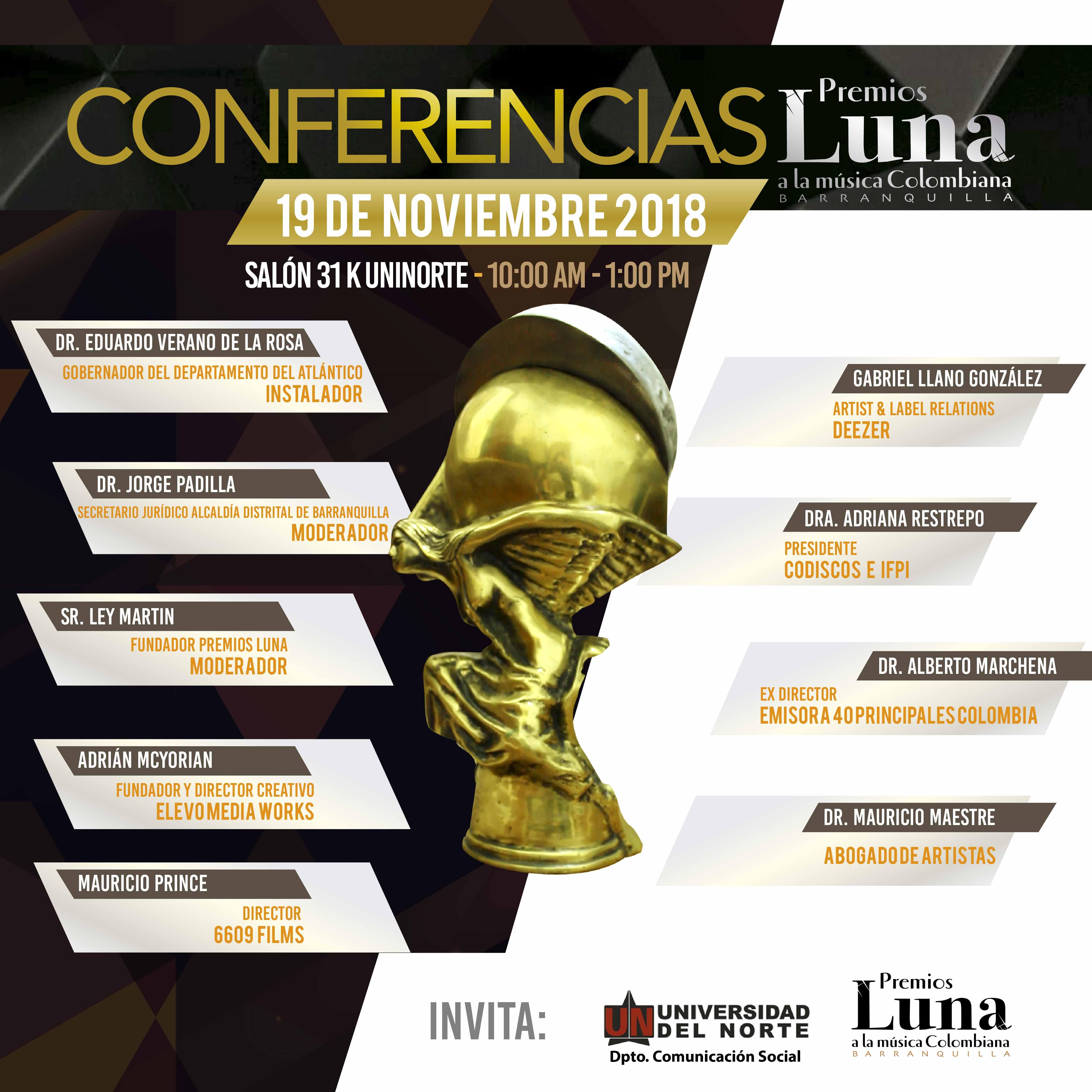 poster conferencias premios luna