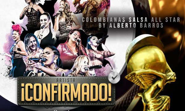 Colombianas Salsa All Star en Premios Luna 2019