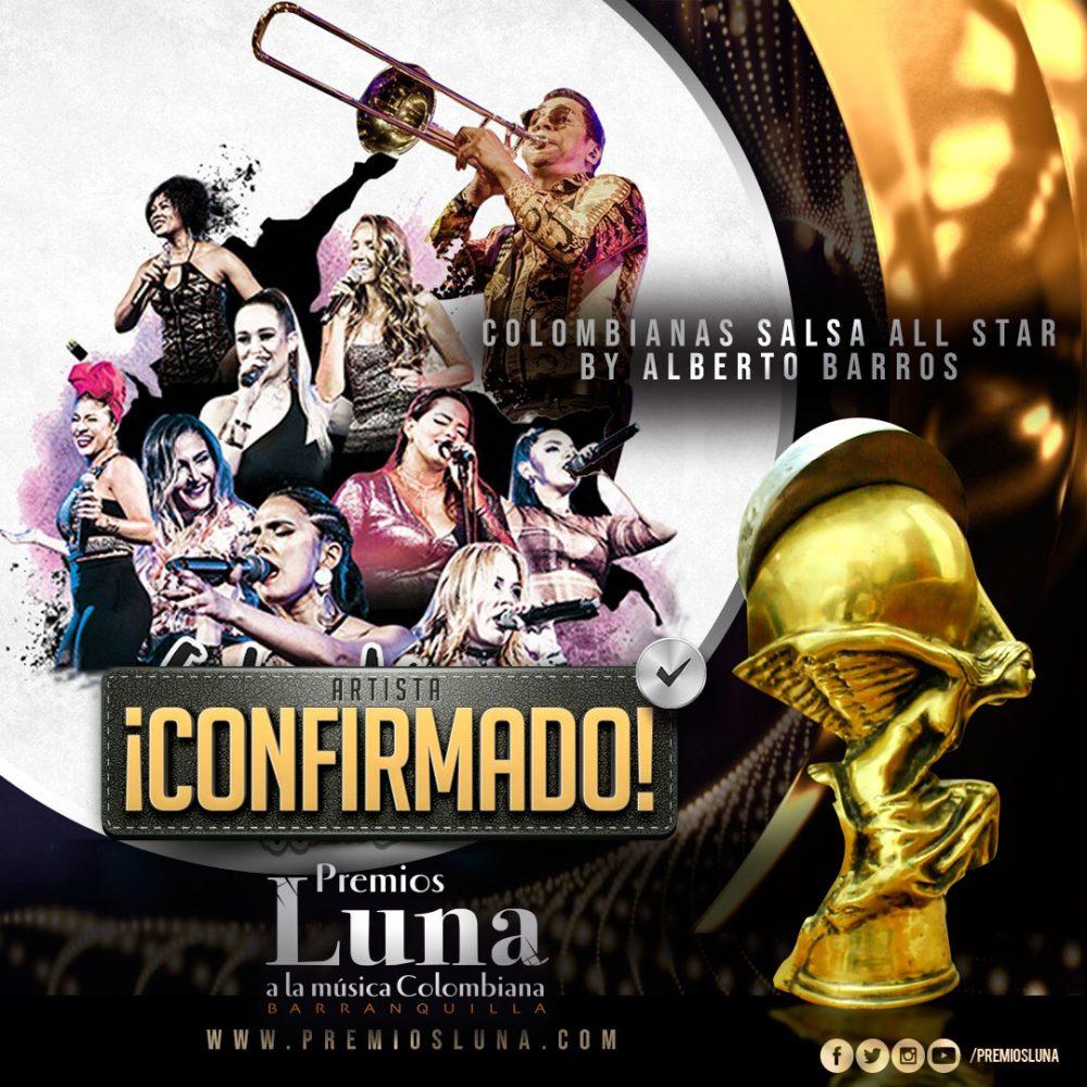 Colombianas Salsa All Star en Premios Luna 2019